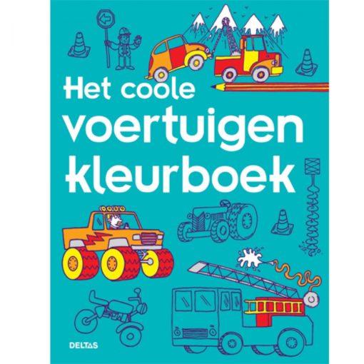 Het coole voertuigen kleurboek, voertuigen, deltas, kleurboek, wonderzolder.nl
