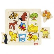 waar woon ik puzzel, goki, houten puzzel, dieren puzzel, wonderzolder.nl