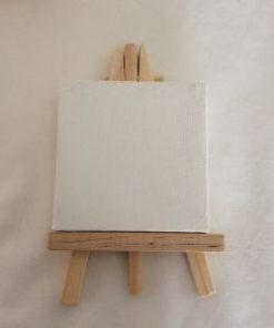 mini schildersezel, houten poppetjes met schildersezel, creatief, wonderzolder.nl