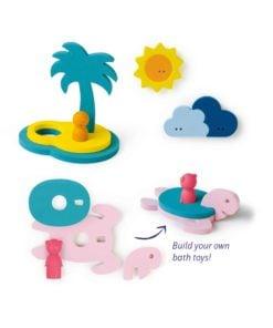 Bad puzzel treasure island, schateiland, bad speelgoed, Quut, wonderzolder.nl