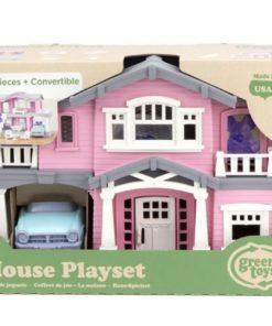 Poppenhuis roze Green Toys, poppenhuis om mee te nemen, Duurzaam, wonderzolder.nl
