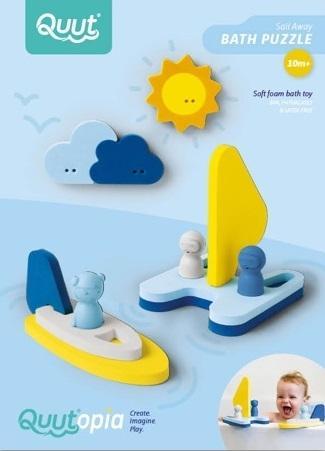 Badspeelgoed Sail Away, Quut, Bad puzzel, zeilboot, wonderzolder.nl