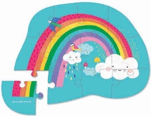 mini puzzel regenboog, crocodile creek puzzel, puzzle rainbow, wonderzolder.nl