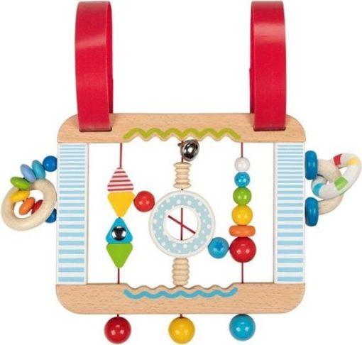Activiteitenbord, box speelgoed, babyspeelgoed, goki, Activity board confetti, wonderzolder.nl