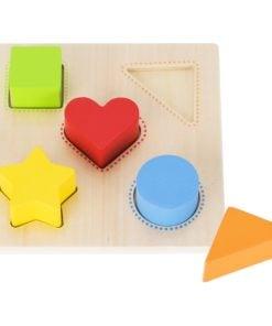 Sorteerbord figuurtjes, goki, babyspeelgoed, sorteren, wonderzolder.nl