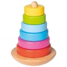 Stapeltoren goki, speelgoed baby, duurzaam houten speelgoed, wonderzolder.nl