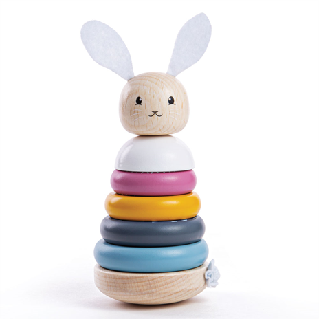 Stapeltoren Konijn, FSC keurmerk, Bigjigs, babyspeelgoed, wonderzolder.nl