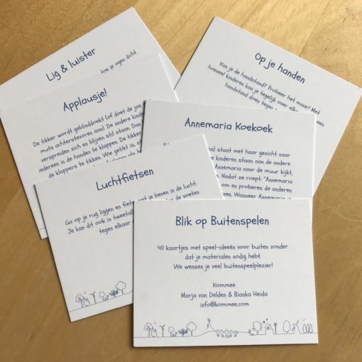 Blik op buitenspelen, kommee, 40 spel ideeën, wonderzolder.nl