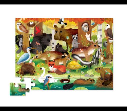 puzzel bosdieren, crocodile creek, forest animals puzzle, wonderzolder.nl