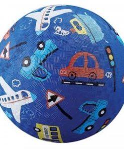Bal voertuigen, Blauwe bal, crocodile creek, transport voertuigen, natuur rubberen bal, wonderzolder.nl