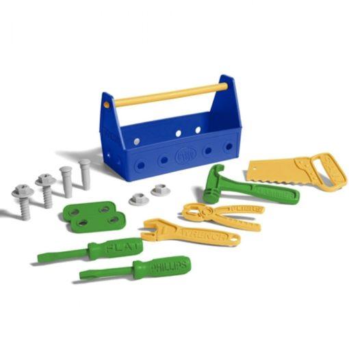 Toolbox blauw, Green Toys, gereedschapskist, green toys gereedschap, wonderzolder.nl