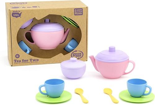 Theeservies 2 persoons roze, thee voor 2, Green Toys speelgoed, Duurzaam, wonderzolder.nl