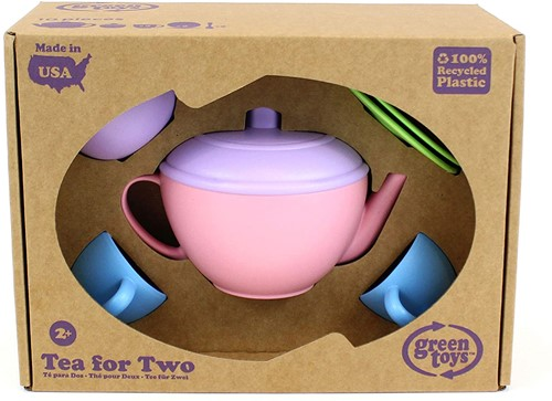 Green Toys theeservies 2 persoon roze, thee voor 2, Green Toys speelgoed, Duurzaam, wonderzolder.nl