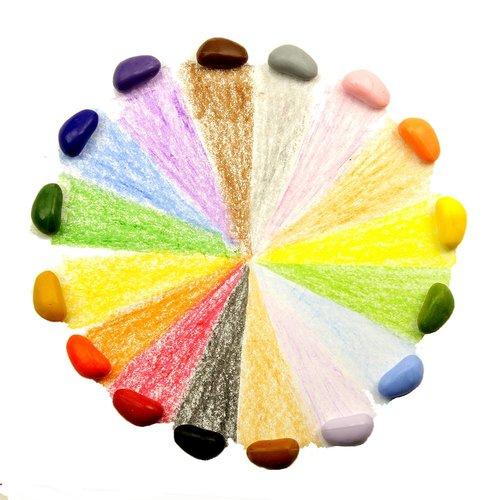 Crayon Rocks 16 stuks, soja krijtjes, waskrijt, wonderzolder.nl