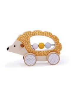 rijdende egel, bigjigs, FSC keurmerk, babyspeelgoed, wonderzolder.nl