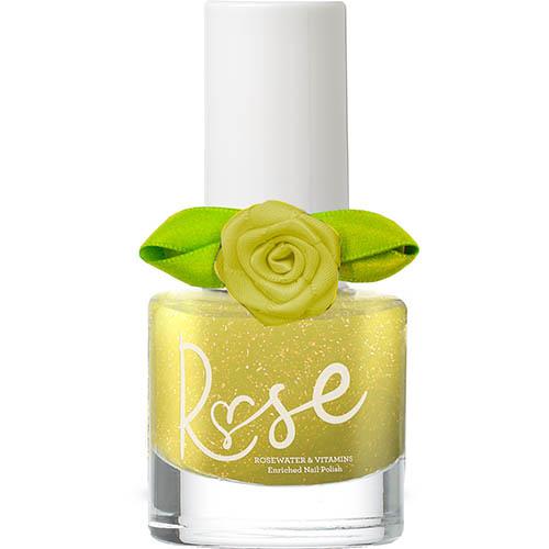 Geel nagellak, rose peel off nagellak, snails nagellakjes, geel met glitter, wonderzolder.nl