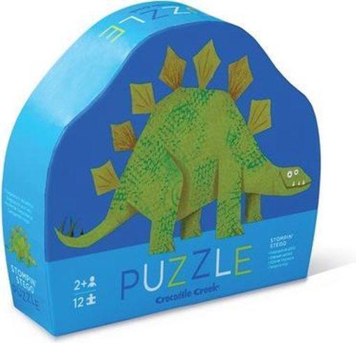 mini puzzel dinosaurus, crocodile creek, stegosaurus puzzel, eerste puzzel, wonderzolder.nl
