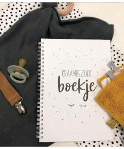 kraambezoek boek miekinvorm, invulboek kraambezoek, baby boek, herinneringen, kraamtijd, wonderzolder.nl