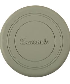 Scrunch frisbee misty grey, gele frisbee, wonderzolder.nl