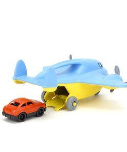 Vliegtuig met auto Green Toys, Green Toys speelgoed, Cargo blue airplane, Cargo blue, wonderzolder.nl