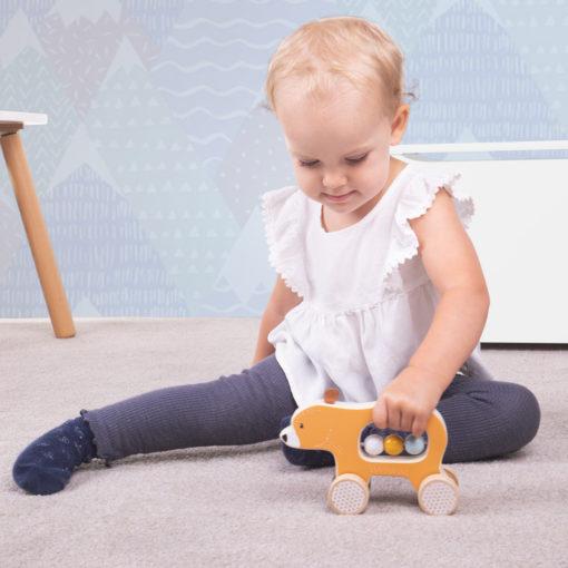 rijdende beer bigjigs, FSC keurmerk, babyspeelgoed, wonderzolder.nl