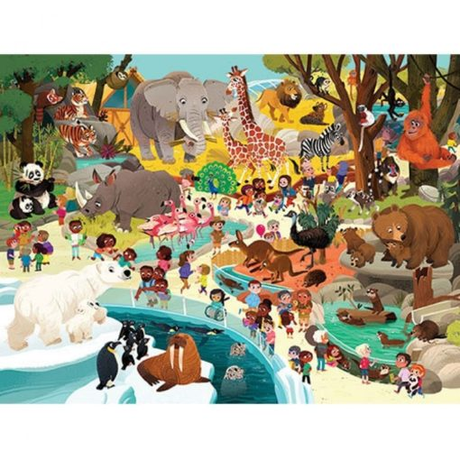 puzzel dierentuin, crocodile creek, floor puzzel, the zoo puzzle, wonderzolder.nl