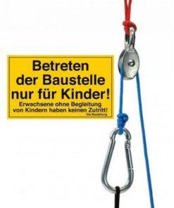 mini katrol met touw en zakjes, kids at work, mini kabelbaan, zwaartekracht, avontuurlijk spelen, wonderzolder.nl