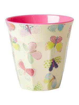 melamine cup medium butterfly, RICE, Melamine cup, Vlinder beker, wonderzolder.nl