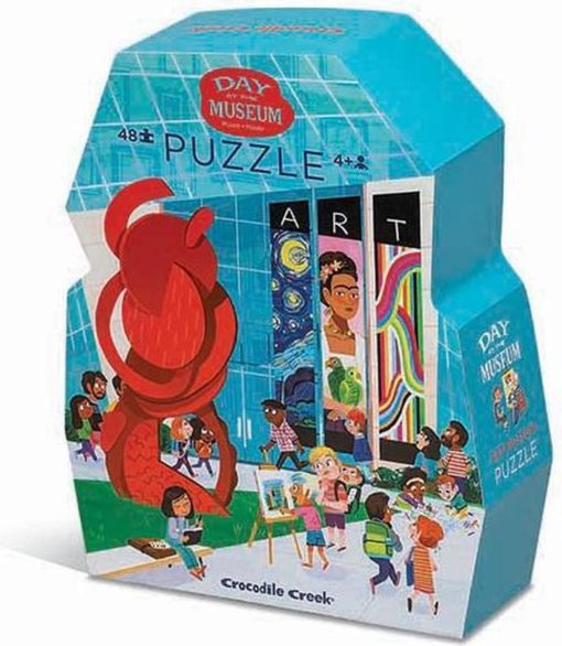 puzzel museum art, shape puzzel, crocodille creek, vloerpuzzel, kunst puzzel, wonderzolder.nl