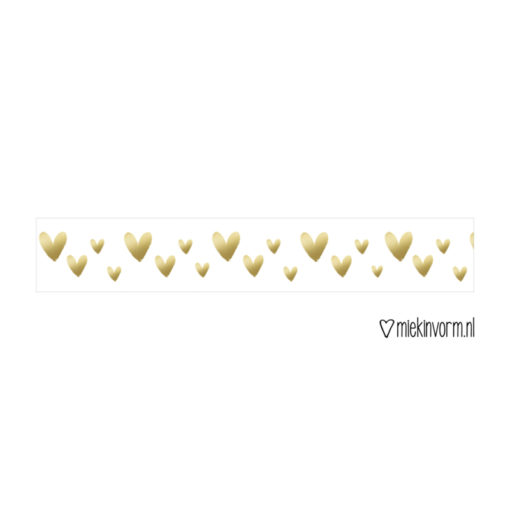 washi tape hartjes goud, miekinvorm, gouden hartjes, wonderzolder.nl