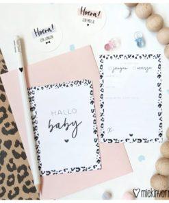 babyshower kaart, babyshower invulkaartjes, miekinvorm, wonderzolder.nl