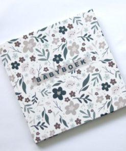 babyboek bloemen linnen, invulboek, eerstejaars boek, huisje no56, wonderzolder.nl