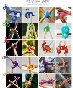 Stick-Lets set van 12 stuks, Sticklets, bouwen, hutten bouwen, wonderzolder.nl
