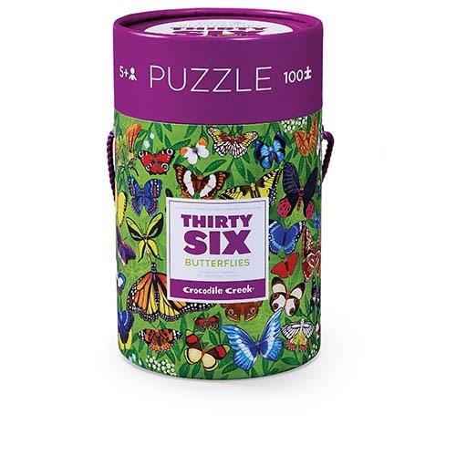 36 vlinder puzzel, thirty six puzzle, crocodile creek, vlinder liefhebbers, wonderzolder.nl