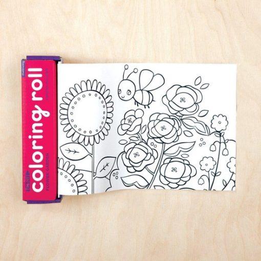 mini coloring roll bloemen, coloring roll flower garden, mudpuppy, kleuren, knutselen, wonderzolder.nl