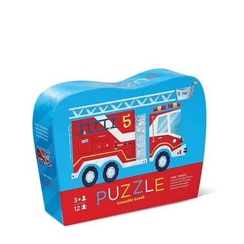 mini puzzel brandweer, crocodile creek, wonderzolder.nl