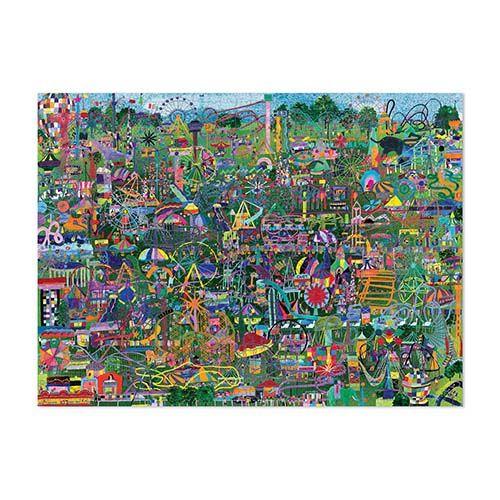 Amusement of the World puzzel, gebouwen ter wereld, crocodile creek, puzzelen, 1000 stukjes puzzel, wonderzolder.nl