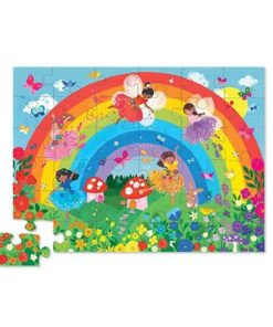 Puzzel regenboog groot, crocodile creek, shaped puzzle, Over the Rainbow, wonderzolder.nl