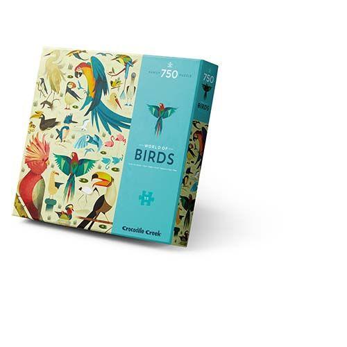 puzzel World of Birds, vogel puzzel, crocodile creek, familie puzzel, wonderzolder.nl