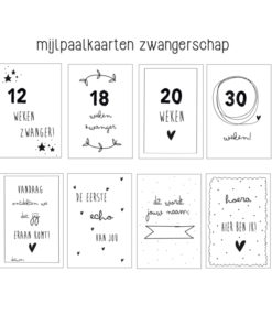 zwangerschaps mijlpaalkaarten, mijlpaalkaarten zwangere, huisje no56, wonderzolder.nl