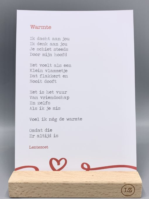 gedicht warmte, gedicht over vriendschap, lentezoet, wonderzolder.nl