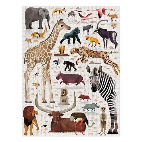 puzzel World of African Animals, dieren puzzel, crocodile creek, familie puzzel, wonderzolder.nl