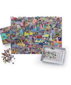 Buildings of the World puzzel, gebouwen ter wereld, crocodile creek, puzzelen, 1000 stukjes puzzel, wonderzolder.nl