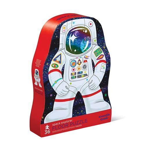 puzzel astronaut, space explore, crocodile creek, shape puzzle, wonderzolder.nl