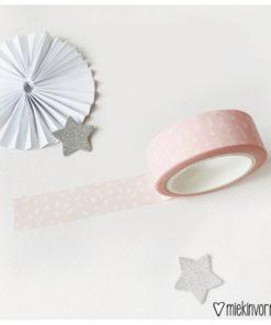 Washi tape Roze met witte vlekjes, MIEKinvorm, masking tape, wonderzolder.nl
