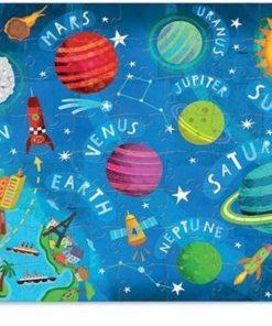 puzzel planeten, puzzle space, crocodile Creek, shakend puzzel, wonderzolder.nl