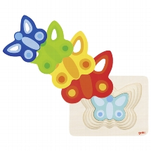 puzzel vlinder laagjes, laagjes puzzel, butterfly puzzle, goki, wonderzolder.nl