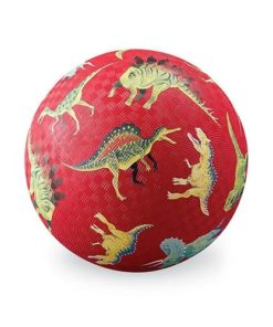 Bal groot dinosaurus rood, dino bal, dinosaurus, ball, crocodile Creek, natuur rubber bal, natuurrubber, wonderzolder.nl