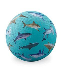 bal groot haaien, crocodile Creek, Sharks ball, ball, natuur rubber, natuurrubber, wonderzolder.nl