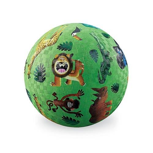 bal klein jungle groen, crocodile Creek, natuurrubber, natuur rubber, ball, wonderzolder.nl